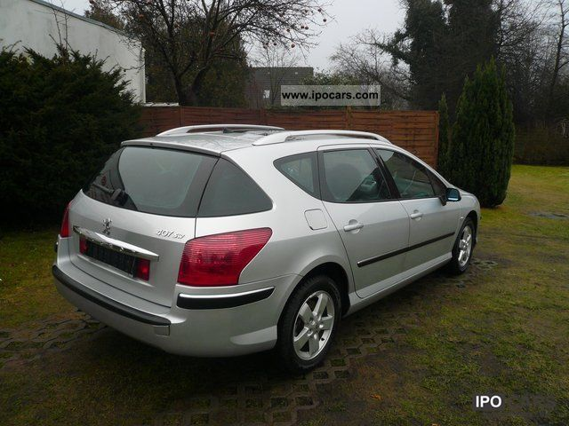 2006 peugeot 407 sw 1 6 hdi fap dpf 110 panoramic roof air car photo and specs. Black Bedroom Furniture Sets. Home Design Ideas