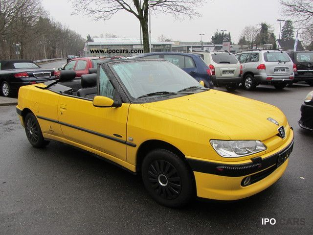 2000 peugeot 306 1 6 convertible air leather sitzheizg cd t v 5 13 car photo and specs. Black Bedroom Furniture Sets. Home Design Ideas