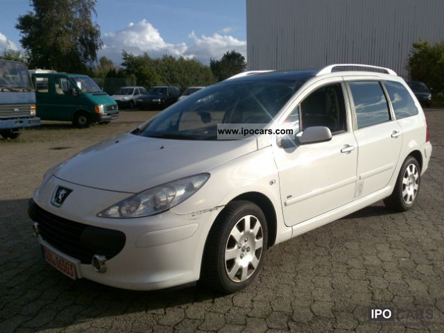 2007 peugeot 307 1 6 hdi break 110 van air car photo and. Black Bedroom Furniture Sets. Home Design Ideas