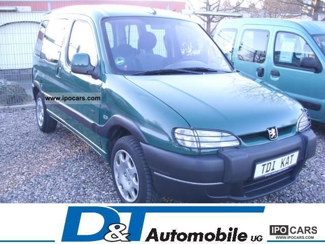 2001 Peugeot  HDI partners 90 (DPF) Green Plakette/Scheckh./2.Hd. Van / Minibus Used vehicle photo