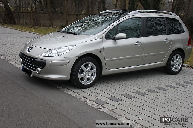 2007 peugeot 307 sw 110 sport car photo and specs. Black Bedroom Furniture Sets. Home Design Ideas
