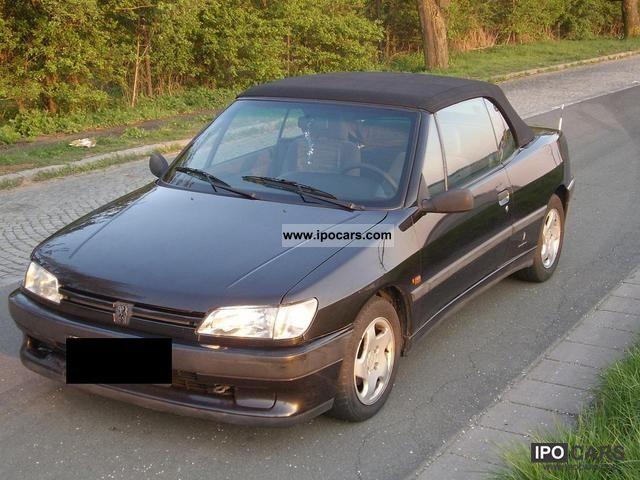 1994 peugeot 306 cabriolet 1 8 car photo and specs. Black Bedroom Furniture Sets. Home Design Ideas