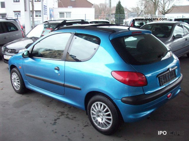 2000 peugeot 206 air pan car photo and specs. Black Bedroom Furniture Sets. Home Design Ideas
