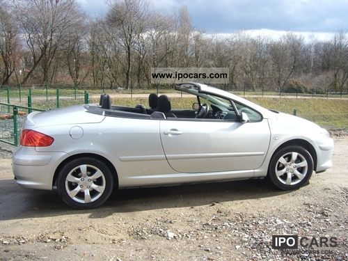 2006 peugeot 307cc car photo and specs. Black Bedroom Furniture Sets. Home Design Ideas