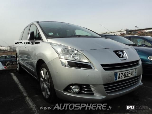 2010 peugeot 5008 2 0 hdi163 fap prem pack ba 7pl car photo and specs. Black Bedroom Furniture Sets. Home Design Ideas