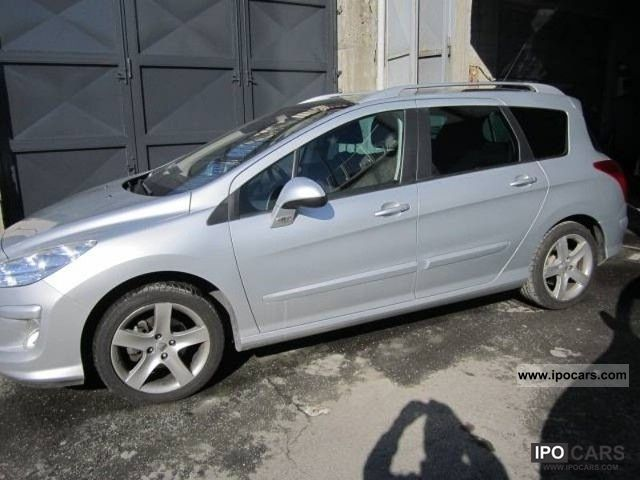 2010 peugeot 308 sw 1 6 16v hdi 2008 ciel feline 110cv car photo and specs. Black Bedroom Furniture Sets. Home Design Ideas