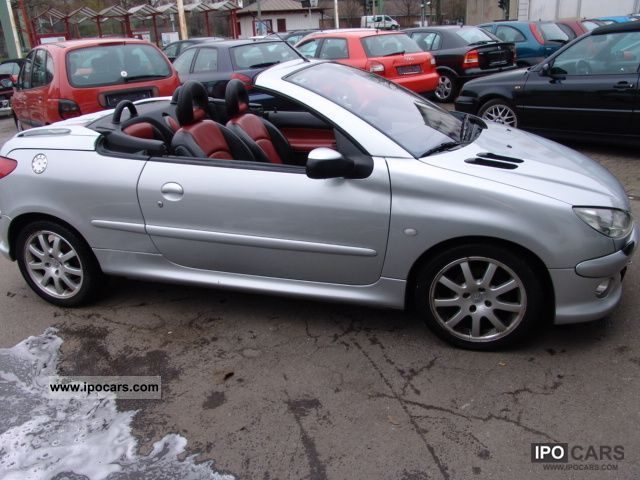 2004 peugeot 206 cc 135 car photo and specs. Black Bedroom Furniture Sets. Home Design Ideas
