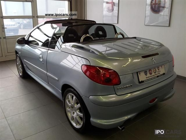 2004 peugeot 206 cc 1 6 16v 110 platinum car photo and specs. Black Bedroom Furniture Sets. Home Design Ideas