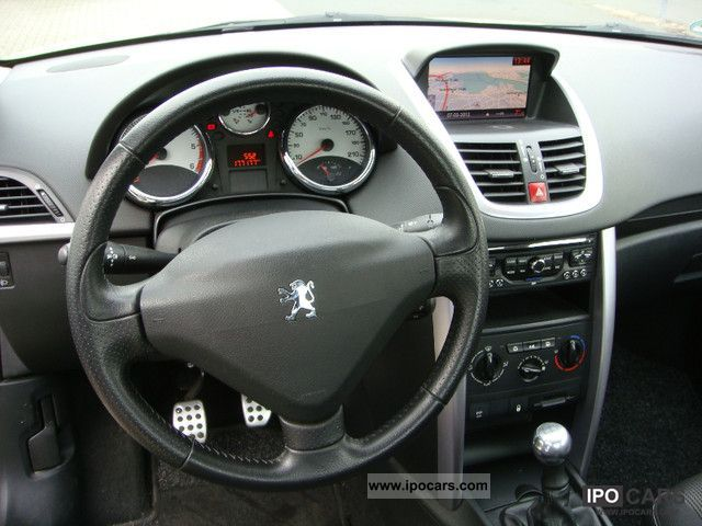 2009 peugeot fap 207 cc 110 blue lion platinum navi. Black Bedroom Furniture Sets. Home Design Ideas