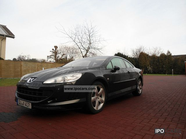 2007 peugeot 407 coupe v6 hdi fap 205 platinum full car photo and specs. Black Bedroom Furniture Sets. Home Design Ideas