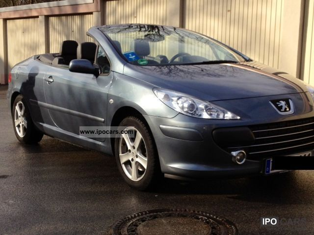 2007 peugeot 307 cc hdi fap 135 sports car photo and specs. Black Bedroom Furniture Sets. Home Design Ideas