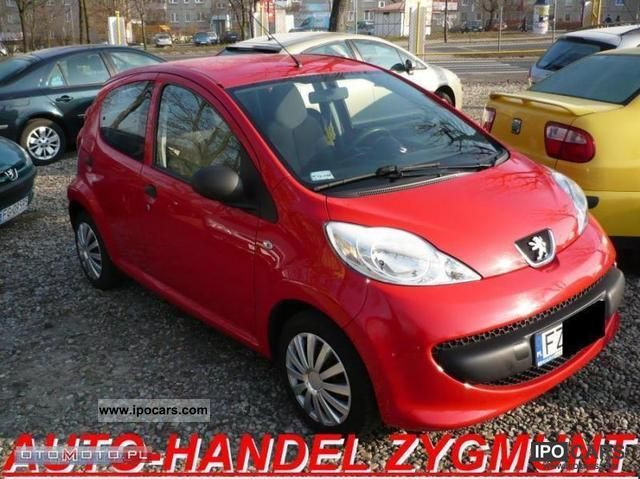 2007 peugeot 107 - car photo and specs