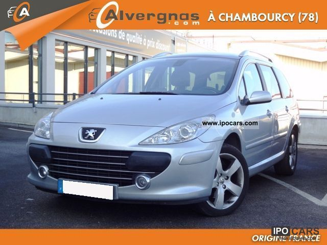 2007 peugeot 307 2 sw 2 0 hdi 136 fap pack gps spor car photo and specs. Black Bedroom Furniture Sets. Home Design Ideas