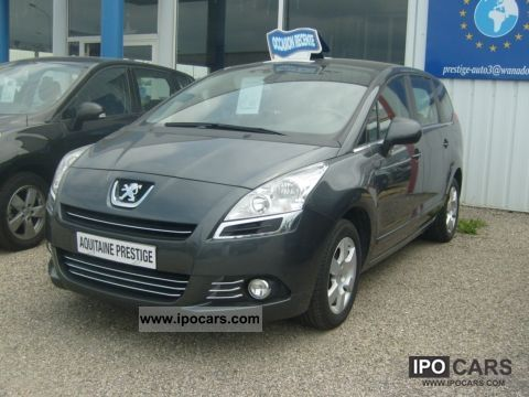 2010 peugeot 5008 premium hdi 150 cv car photo and specs. Black Bedroom Furniture Sets. Home Design Ideas