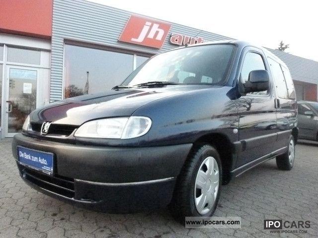 2002 Peugeot  Partner, Climate 2xSchiebetüren, trailer hitch, Green sticker Van / Minibus Used vehicle photo
