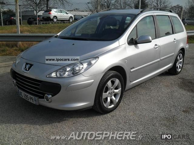 2007 peugeot 307 break 1 6 hdi110 sports car photo and specs. Black Bedroom Furniture Sets. Home Design Ideas