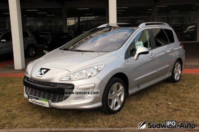 2009 peugeot 308 sw 2 0 hdi sport plus ahk parking aid car photo and specs. Black Bedroom Furniture Sets. Home Design Ideas