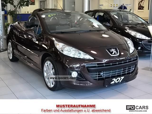 2012 peugeot 207 cc 120 premium car photo and specs. Black Bedroom Furniture Sets. Home Design Ideas
