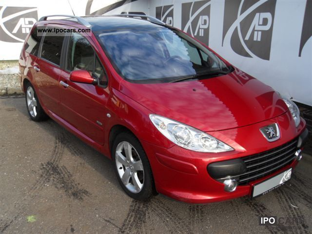2008 peugeot 307 hdi sw 110 car photo and specs. Black Bedroom Furniture Sets. Home Design Ideas