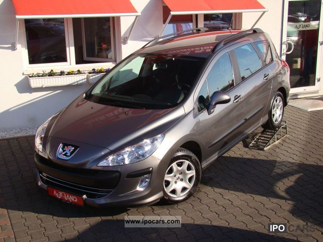 2008 peugeot 308 1 6 vti 120 sw pdc ahk air car photo and specs. Black Bedroom Furniture Sets. Home Design Ideas
