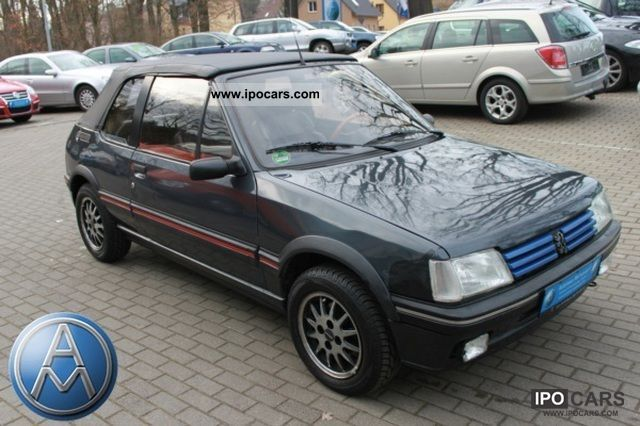 1992 Peugeot  205 CTI Cabriolet with leather, technical approval / Au 5/2013 Cabrio / roadster Used vehicle photo