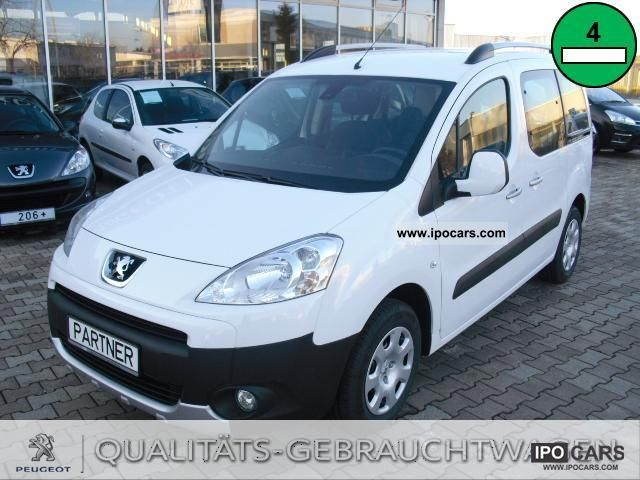 2012 Peugeot  Partner Tepee Tendance eHDI Fap 90 Stop and Star Van / Minibus Demonstration Vehicle photo