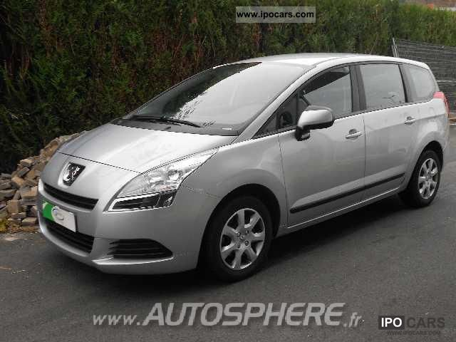 2010 peugeot 5008 5008 1 6 hdi comfort pack car photo and specs. Black Bedroom Furniture Sets. Home Design Ideas