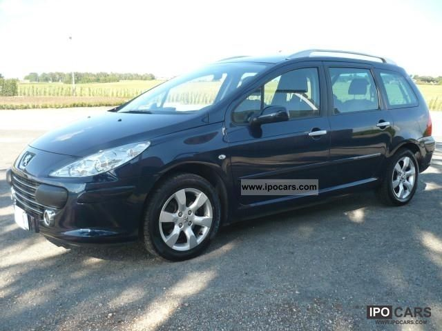 2008 peugeot 307 sw 1 6 hdi 110 cv tetto panoramico car photo and specs. Black Bedroom Furniture Sets. Home Design Ideas