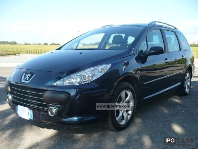 2008 peugeot 307 sw 1 6 hdi 110 cv tetto panoramico car photo and specs