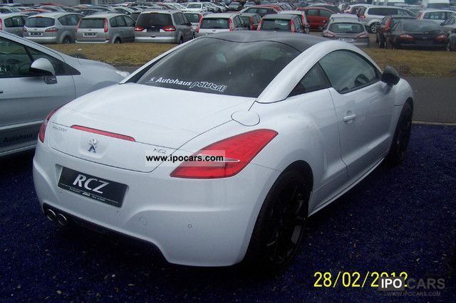 2012 peugeot rcz 1 6 thp 200 car photo and specs. Black Bedroom Furniture Sets. Home Design Ideas