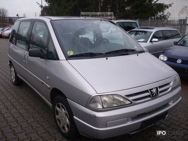 2001 peugeot hdi 806 esplanade climate 3 good state car photo and specs. Black Bedroom Furniture Sets. Home Design Ideas