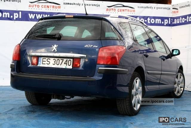 2008 peugeot 407 2 0 hdi sw car photo and specs. Black Bedroom Furniture Sets. Home Design Ideas