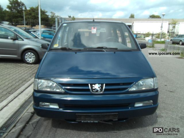 2001 peugeot 806 hdi premium climate control car photo and specs. Black Bedroom Furniture Sets. Home Design Ideas