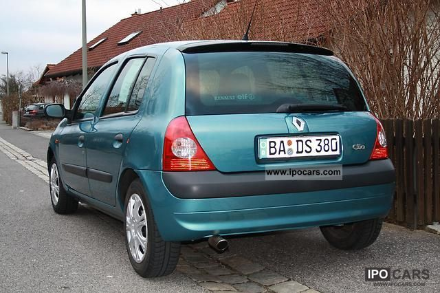 2002 renault clio 1 2 16v blue sensation car photo and specs. Black Bedroom Furniture Sets. Home Design Ideas