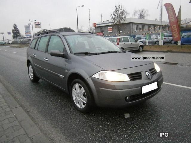 2004 renault megane 1 9 dci 120km car photo and specs. Black Bedroom Furniture Sets. Home Design Ideas