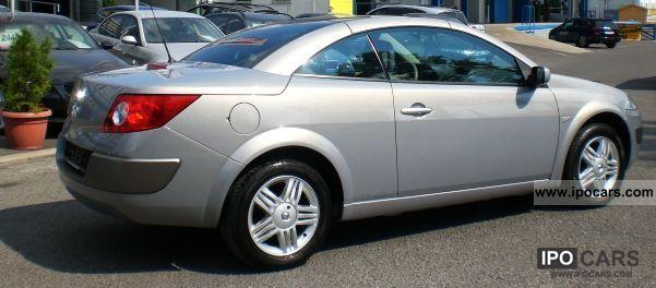2006 renault megane 1 6 coupe cabriolet privilege keyless go car photo and specs. Black Bedroom Furniture Sets. Home Design Ideas