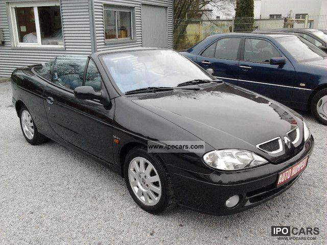 2001 renault megane cabriolet 1 6 privilege leather climate car photo and specs. Black Bedroom Furniture Sets. Home Design Ideas
