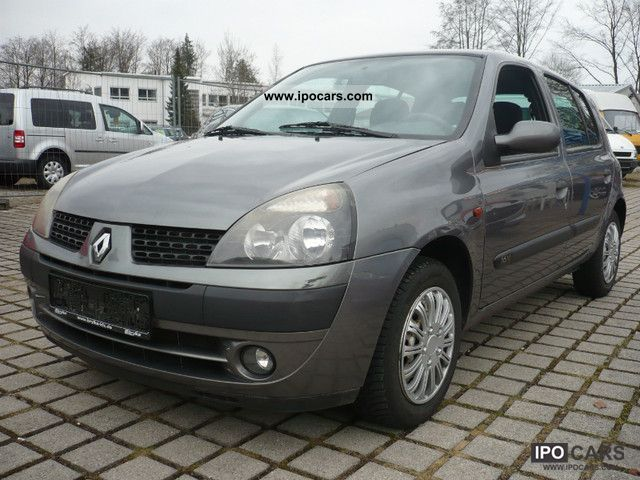 2002 renault clio 1 2 16v dynamique 3 euro 5 door air car photo and specs. Black Bedroom Furniture Sets. Home Design Ideas