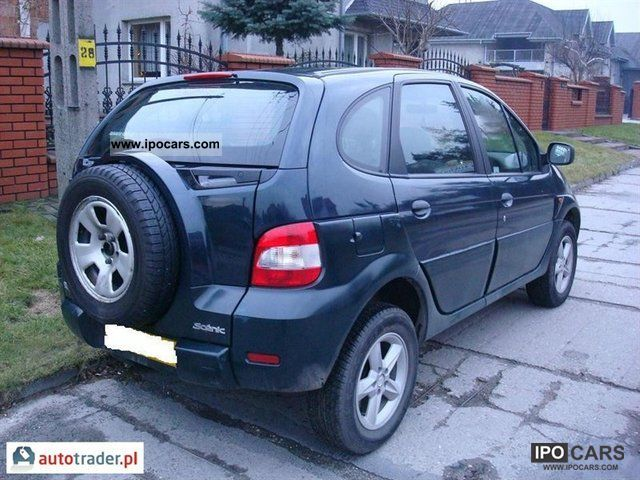 2002 renault scenic rx4 car photo and specs. Black Bedroom Furniture Sets. Home Design Ideas