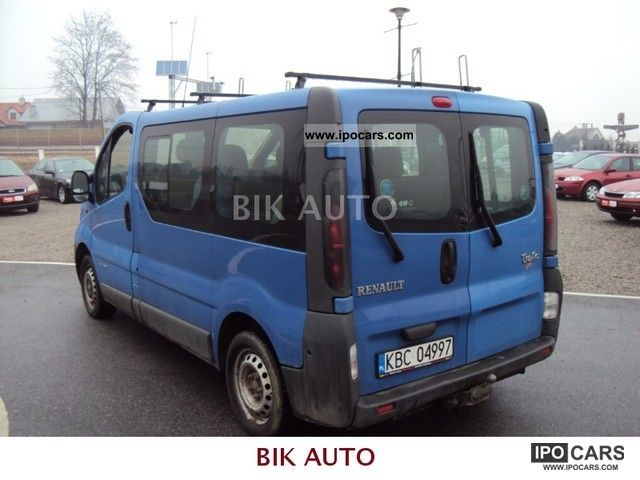 2003 renault trafic 1 9 dci 8 foteli car photo and specs. Black Bedroom Furniture Sets. Home Design Ideas