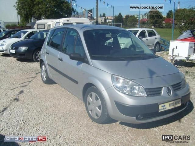 2005 renault scenic 1 9dci 6 biegowy car photo and specs. Black Bedroom Furniture Sets. Home Design Ideas