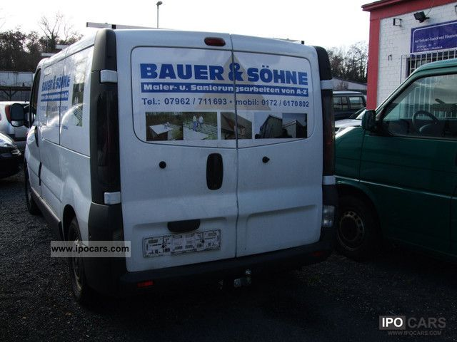 2002 renault trafic 1 9 dci l1h1 car photo and specs. Black Bedroom Furniture Sets. Home Design Ideas