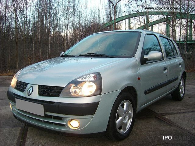 2002 renault clio 1 4 automatic car photo and specs. Black Bedroom Furniture Sets. Home Design Ideas