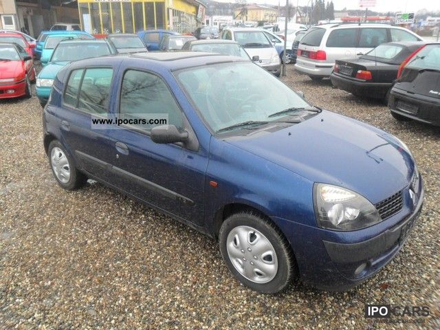 2002 renault clio 1 2 authentique car photo and specs. Black Bedroom Furniture Sets. Home Design Ideas