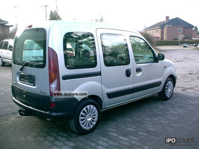 2002 renault kangoo 1 5 dci authentique car photo and specs. Black Bedroom Furniture Sets. Home Design Ideas