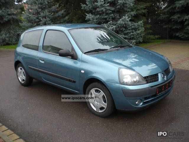 2004 renault clio 1 2 car photo and specs. Black Bedroom Furniture Sets. Home Design Ideas