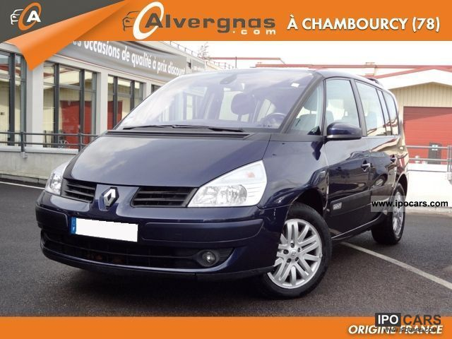 2006 renault espace iv 2 2 0 dci 150 fap alyum plus car photo and specs. Black Bedroom Furniture Sets. Home Design Ideas