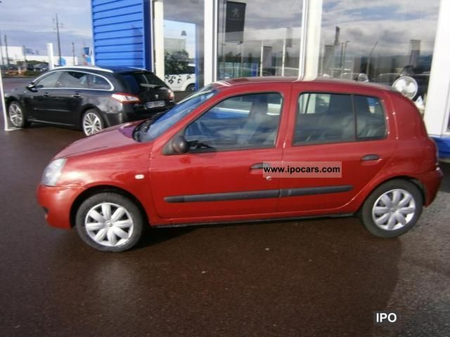 2006 renault clio ph3 ii 1 2 16v authentique campus car photo and specs. Black Bedroom Furniture Sets. Home Design Ideas