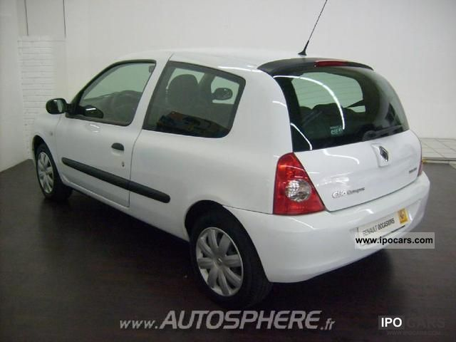 2007 renault clio 1 5 authentique dci65 campus 3p car photo and specs. Black Bedroom Furniture Sets. Home Design Ideas