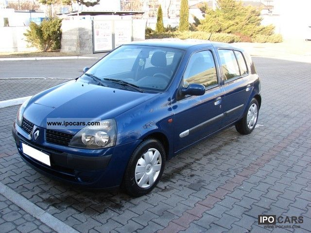 2001 renault clio ii 1 2 16v po lifcie krajowy benz car photo and specs. Black Bedroom Furniture Sets. Home Design Ideas